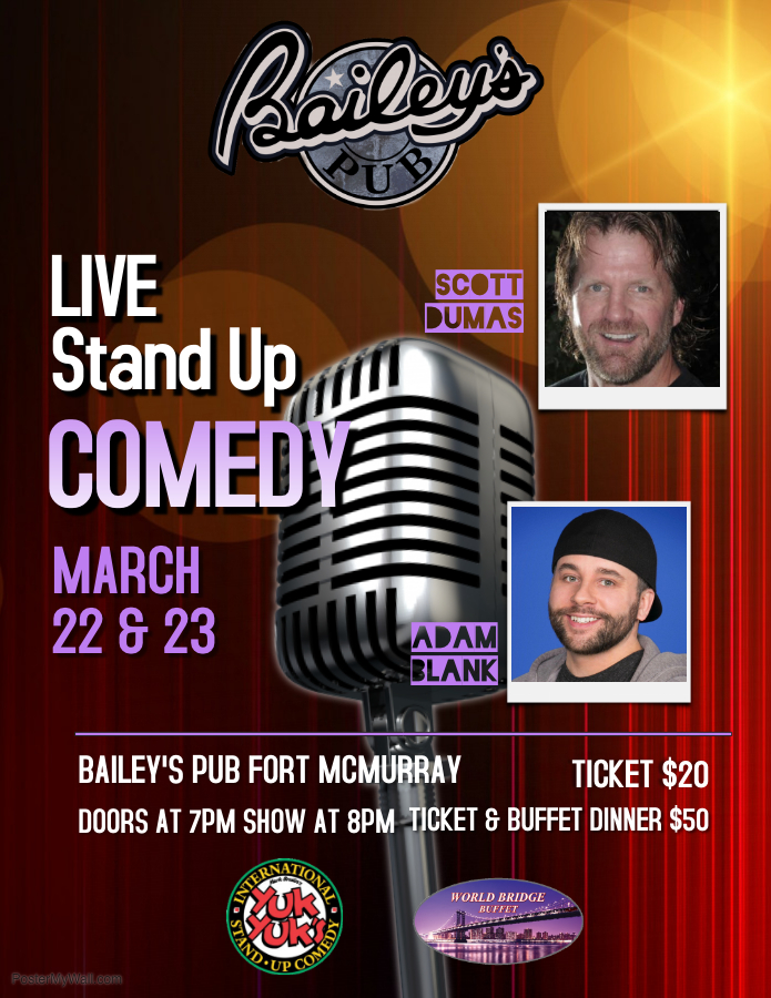 Comedy March 22-23, 2019